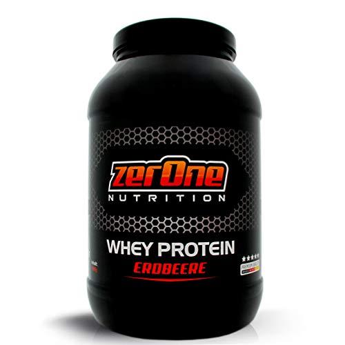 ZerOne Whey Protein Eiweißpulver | Natürliche Zutaten | hochwertiges Proteinpulver | Low Carb Eiweiß-Shake | Muskelaufbau Fitness Training | 1000g (Erdbeere) ...