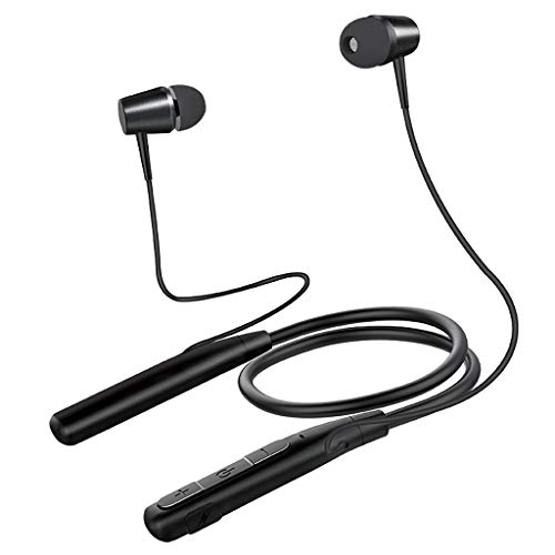 Yallylunn Hanging Neck Bluetooth Sports Earphone Metal Ear Shell Super Good Sound Quality Sehr Einfach Zu Nehmen Und Zu Entfernen Sport Im Freien