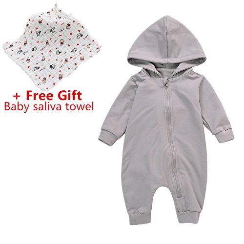 Baby Strampler Set, Chickwin Baby Reine Baumwolle Casual Stück Kleidung Baby Kinder Jungen Mädchen Infant Strampler Overall Baumwolle Kleidung (Grau, 90, 12-24 (Halloween Kostüme Für Winnie Babys Pooh)