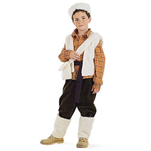 Mascarada MI423 - Costume da pastore per bambino, Bianco/Marrone, 5-7 anni