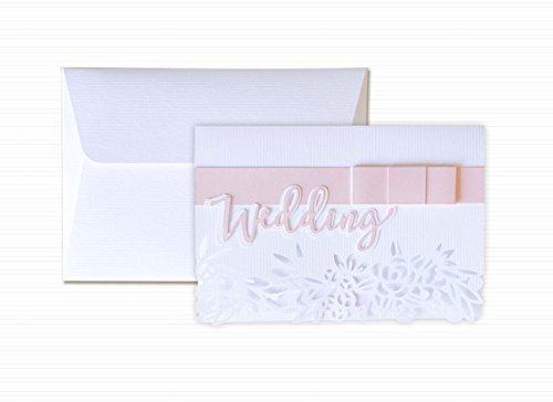 Wedding - Extra weiß - perforiert - Papierbogen - Grußkarte mit Umschlag (10,5 x 15 cm) -...