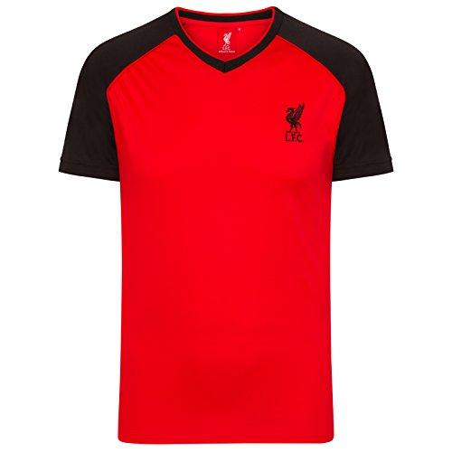 Liverpool FC Camiseta Oficial de Entrenamiento - Para Hombre - Poliéster - Rojo/Negro Cuello de Pico - M