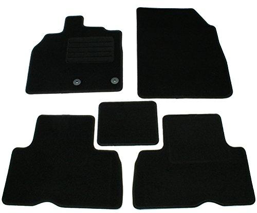 Juego de alfombrillas de velour negras específicas para cada modelo de coche (ver modelos de vehículo compatibles en la descripción) moquetas esterillas esteras alfombras moquetas