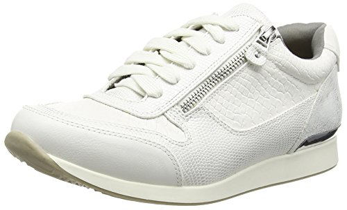 La Strada White Snake Leather Look Sneaker Damen Sneakers Weiß (1504 - Snake White)