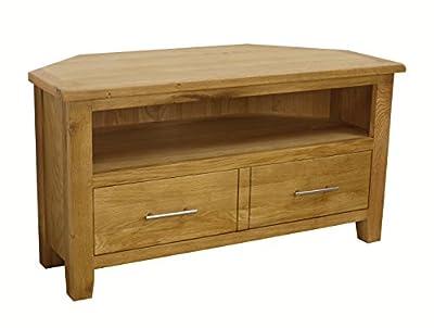 Nebraska Oak - Corner TV Plasma DVD Video Unit Stand Cabinet - Assembled