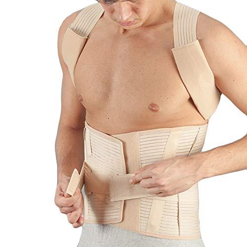Busto ortopedico dorso-lombare con stecche modellabili estraibili e spallacci imbottiti,per prevenire un\'eccessiva cifosi dorsale.Tessuto millerighe aerato,comfortevole ed avvolgente