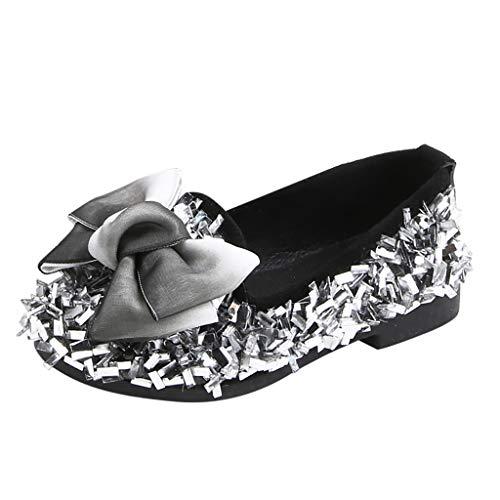 Alwayswin Mädchen Einzelne Schuhe Freizeitschuhe Party Prinzessin Prinzessin Bling Hochzeit Baby Bogen Kristall Loafers Beiläufige Elegant Flache Schuhe Kinder Schuhe Faule Schuhe