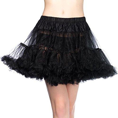 Leg Avenue 8990X - Petticoat Schwarz Kostüm Damen Karneval, Übergroße (EUR 46-50)