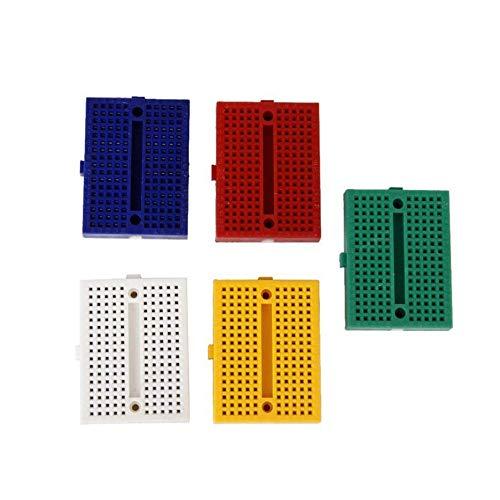 OFNMY 6Pcs SYB-170 Mini Breadboard 170 tie-points Mini Solderless Prototype Breadboard per Arduino Electronic Kit UNO R3 MEGA 2560 NANO