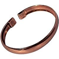 """magnetisch uni gebogene solide Kupfer Armband - 3 Handgelenk Größen - CCB -MB7 - Large - 195mm (7 3/4"""") to 222mm... preisvergleich bei billige-tabletten.eu"""