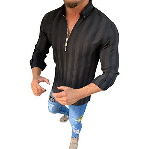 Herren Leinen Hemd Lange Ärmel Stehkragen V-Ausschnitt mit Knopfleiste Einfarbig Hemd Casual T-Shirt Herren Freizeithemd Männer Sommer Hemd Casual Regular Fit Oberteile -