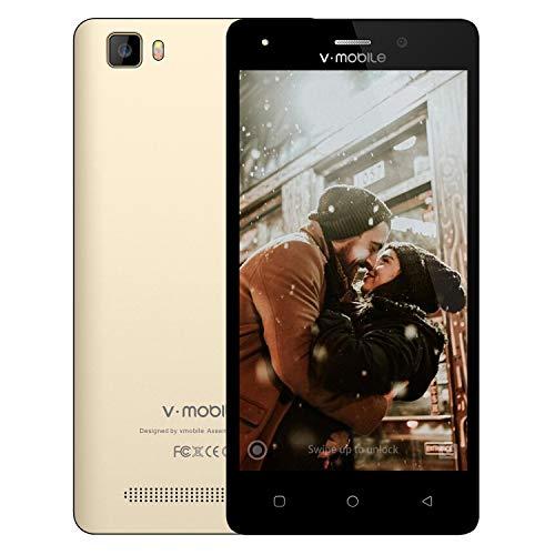 Smartphone Pas Cher 4G VMOBILE A10 5 Pouces 8GB ROM Android 7 2800mAh Dual SIM Téléphone Tactile Dual Caméra Telephone Portable Debloqué Pas Cher(Or)