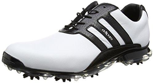 adidas Adipure Classic, Chaussures de Golf Homme, Blanc (White/Core Black/Core Black), 42 EU