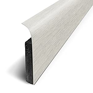 3M Pack of 5 Adhesive Skirting Boards, 120 x 70 cm, Grey, D180501D