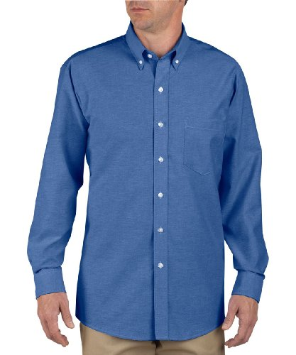 Dickies - - SS36 Button-Down Oxford Shirt - Langarm French Blue