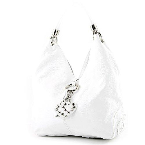 Borsa In Pelle Borsa A Mano Shopper Donna In Pelle 330 Bianco