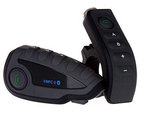 Zazzamilo BTIM V8 TWIN Interfono Moto con Remote Control da Manubrio Bluetooth Radio Fm Connessione Universale