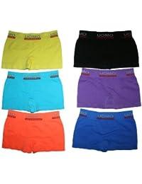 6 Pack Jungen Kinder Boxershorts TOP QUALITÄT verschiedene Farben. Microfaser Unterhosen Shorts