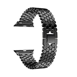 Moonuy Watch Band for Apple Watch Series 4 40MM / 44MM Bracelet Replacement Stainless Steel Watch Band Strap for Apple Watch Series 4 40mm Sport Watch Accessories