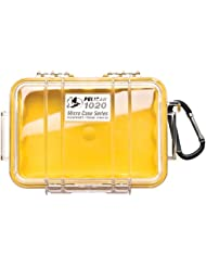 PELICAN 1020 MICRO CASE YELLOW WITH CLEAR LID