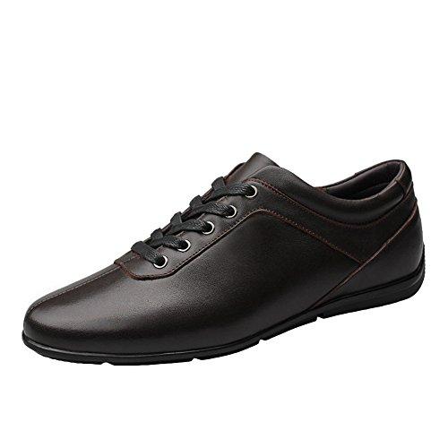 Sk studio mocassini uomo pelle scarpe da barca eleganti loafers casuale slip on nero scarpe di guida marrone