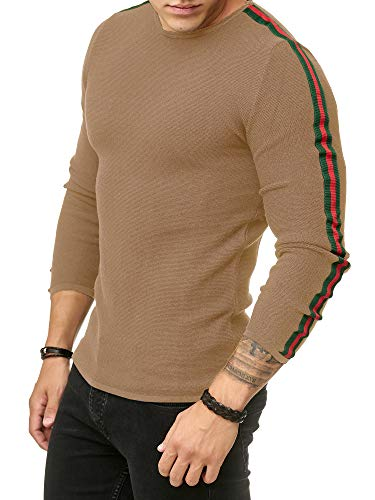 Red Bridge Herren Streifen Pullover Strickpullover Luxury Line Sweater