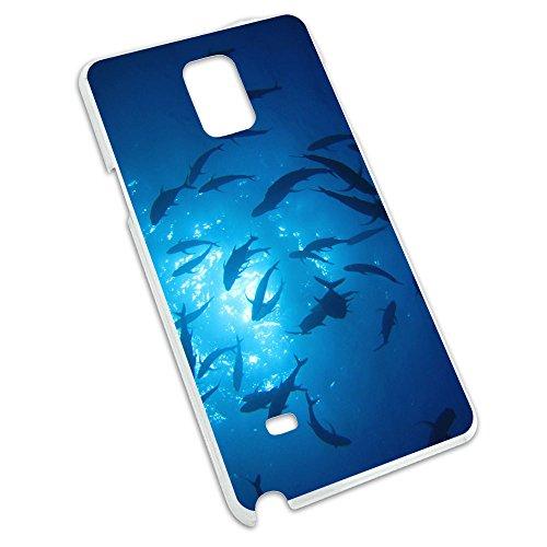 Tauchanzug Dive Tauchen Ocean Fisch Hülle Schutzhülle Hartschale zum Aufstecken für Samsung Galaxy Note 4