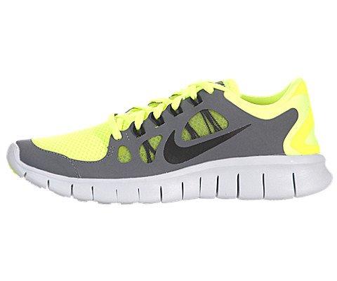 NIKE Kids Free 5.0 (GS) Volt/Black/Cool Grey/Pr Pltnm Running Shoe 6 Kids US (Black Kids Schuhe Free Nike)