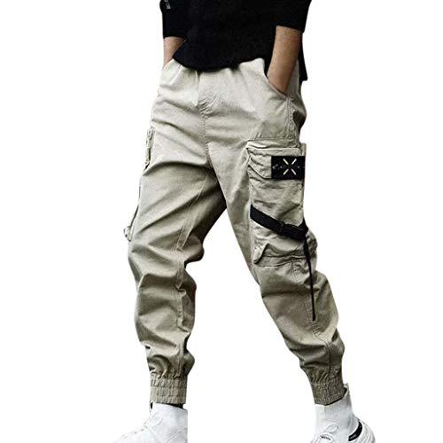 Pants Herren Homme Stoffhose Casual Cargo Chino Jeans Sport Jogging Slim Fit Kurz Hose Baumwolle - WQIANGHZI Pantalon Large Bermuda-Shorts Camo Sportwear Baggy Komfortable Homme Casual Pants