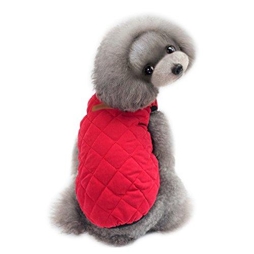 YiJee Kleine Haustier Welpen klassischen Weste T-Shirt Hund Kleidung Weste Bekleidung Rot M