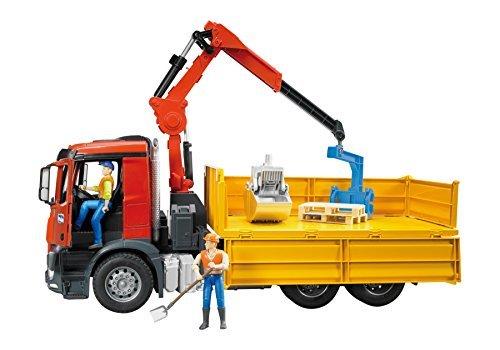 bruder 03651 03651 arocs-Bau-LKW mb mit Einem kran und 2 pa