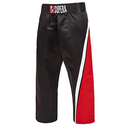 Supera Lange Kickboxhose Kampfsport Hose mit extra breitem Schnitt - Trainingshose für Kickboxen, Muay Thai, MMA