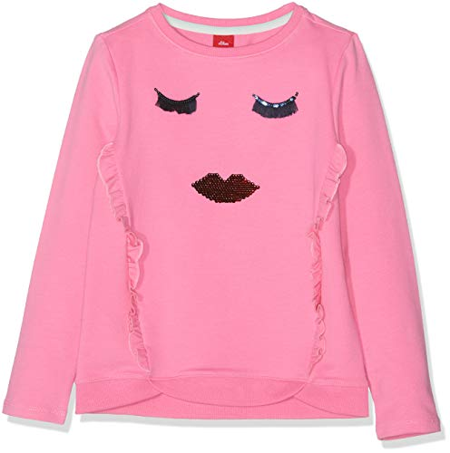 s.Oliver Mädchen 53.902.41.4098 Sweatshirt, Rosa (Pink 4420), 92 (Herstellergröße: 92/98/REG) - Rosa Sport-kinder Sweatshirt