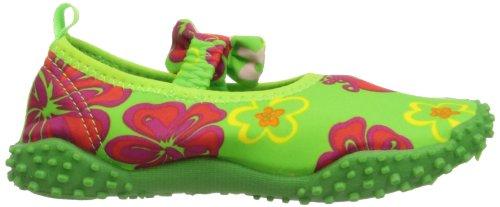 Playshoes Aqua-Schuh Hawaii mit höchstem UV Schutz nach Standard 801 174780, Sandales mixte enfant Vert-TR-C1-12
