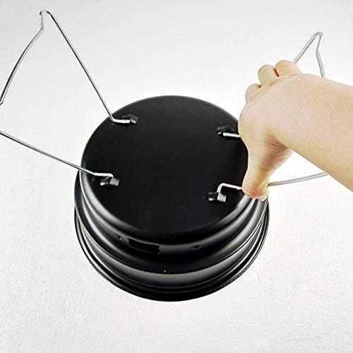 41U7RajLQbL - JIALI Haushalts-Grill, tragbar, zusammenklappbar, Einweg-Grill, rund, geeignet für Outdoor-Grill, Outdoor-Aktivitäten, etc.