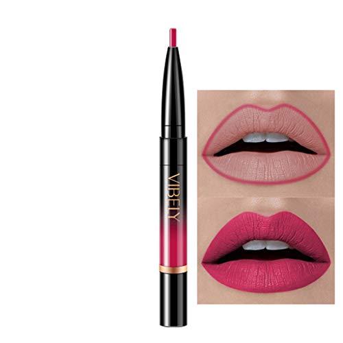 Innerternet Set De CosméTiques De Maquillage De Longue DuréE ImperméAble Crayon-Crayon à LèVres éTanche Double Boutonnage Lipliner ImperméAble 16 Couleurs (H-1)