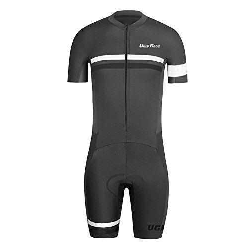 Uglyfrog Herren Prämium Triathlon Tri Anzug Kompression Duathlon Laufen Fahrradfahren Skinsuit