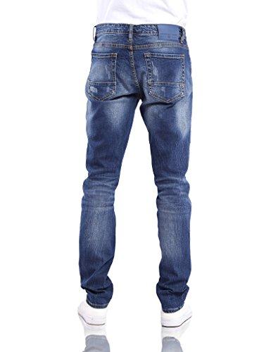 G Gradual Herren Jeans Jeanshose Denim dicke Naht dunkel und hellblau Trend-Look Jeans Hosen Hellblau