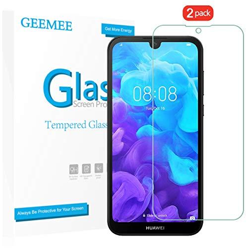 GEEMEE für Huawei Y5 2019 Panzerglas Schutzfolie Bildschirmschutzfolie, 9H Filmhärte Gehärtetem Schutzglas Hohe Empfindlichkeit Panzerglas Bildschirmschutzfolie (Transparent)-2 Pack