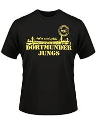 Alsino Dortmunder Jungs T-Shirt Dortmund Fanartikel Fanshirt Shirt 100% schwarz