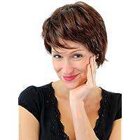 WIG ME UP ® - Peluca, postizo, pelo corto, para señora mayor, tonos variados de castaño GFW1270-4T33