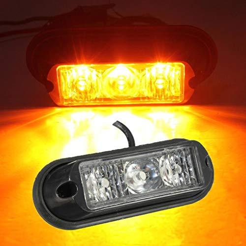 Yongse 3 LED clignotant Strobe récupération Beacon lumières Breakdown lampe Trunk Camions Ambre