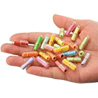 Botellas de plástico con forma de píldora transparente, con forma de mini cápsula, botella