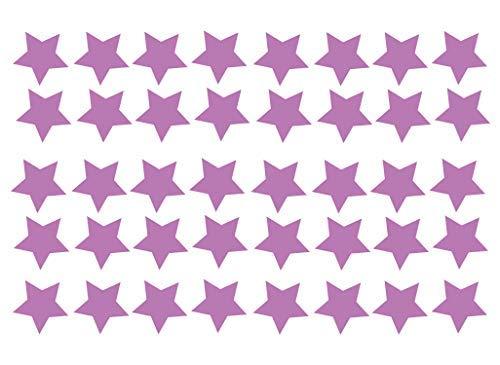 Grand Pack Of 40 Vinyl Star Autocollant Auto Moto Casque de Scooter Décalque Graphique Ordinateur Portable Décoration Vitre Couleurs Diverses - Violet Vernis