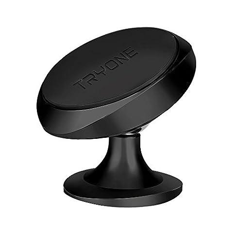 Tryone magnétique de voiture téléphone support de fixation avec plaque métallique en cuir pour iPhone 7/6/5Galaxy S7/S6ou GPS Conception monobloc | | solide support de fixation pour OtterBox utilisateur