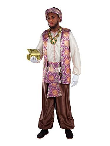 DISBACANAL Disfraz de PAJE Baltasar para Hombre – Único, XL