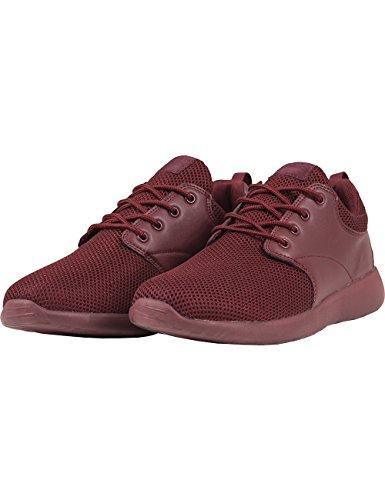Urban Classics Light Runner Shoe, Baskets Basses mixte adulte Rot (burgundy/burgundy 717)