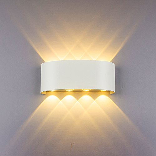 LED Apliques pared Modernos 8W Blanco Impermeable