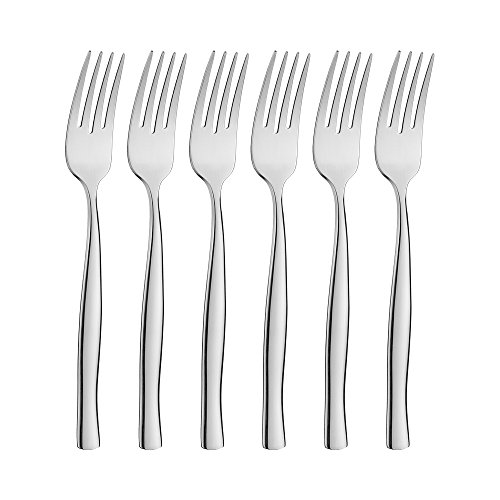icxox Dinner Forks Set of 6, 18/10 Stainless Steel, 8.15 inches (Silver