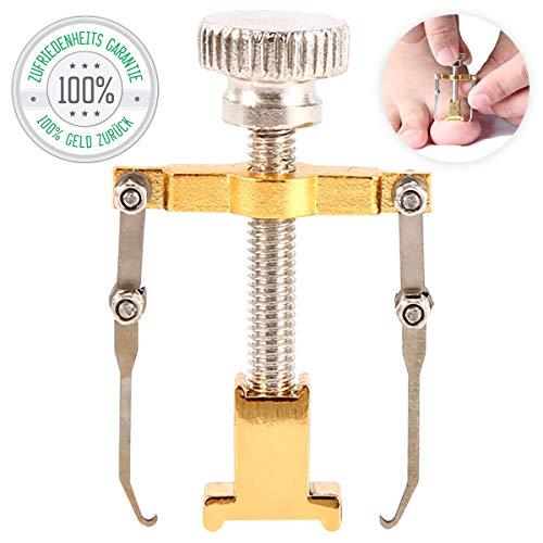 Nagelspange | Behandlung von eingewachsenen Zehennägel | Korrektor | Gold | Pediküre | Nagelpflege Werkzeug | Fußnagelzange in Premiumqualität von Tillmann's Deutschland